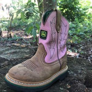 John Deere Pink boots